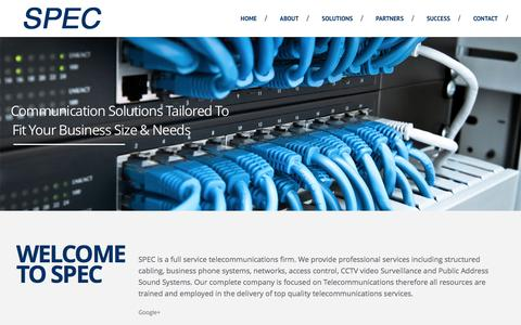 Screenshot of Home Page spec-egypt.com - SPEC Egypt | Systems Projects & Engineering Company SPEC | Systems & Projects Engineering Company - captured Feb. 17, 2016
