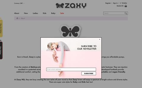 Screenshot of About Page zaxyshoes.co.uk - About - captured Oct. 19, 2018
