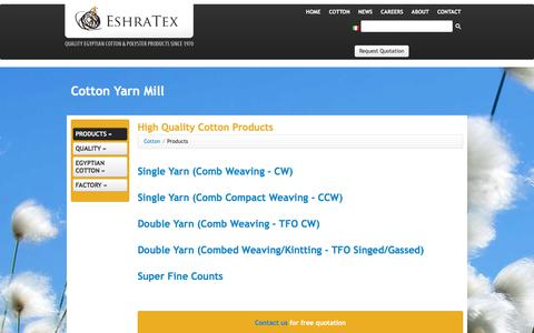 Screenshot of Products Page eshratex.com - EshraTex | Products - captured Sept. 26, 2018