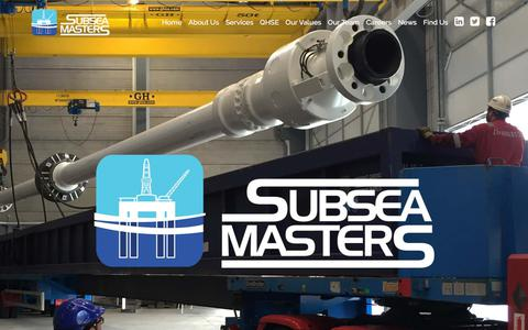 Screenshot of Home Page subseamasters.com - Subsea Masters – Specialists in Subsea Services - captured Sept. 21, 2018