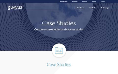 Screenshot of Case Studies Page guavus.com - Guavus Case Studies - captured Jan. 30, 2019