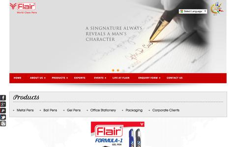 Screenshot of Terms Page flairpens.com - :: Flair Pen :: - captured July 5, 2017