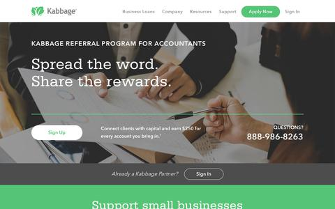 Small Business Accountant Referral Program | Get Your Clients Funded with Kabbage
