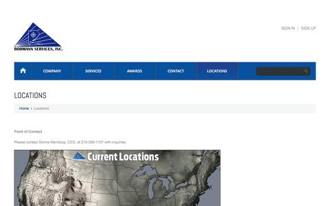 Screenshot of Locations Page rohmannservices.com - Locations  |  Rohmann Services - captured Dec. 10, 2016