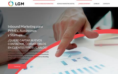 Screenshot of Home Page lagranmanzana.net - Agencia Inbound Marketing Internacional | LGM Inbound Marketing Agency - captured May 2, 2017