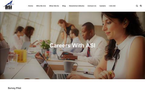 Screenshot of Jobs Page aerialservicesinc.com - Careers - Aerial Services, Inc. (ASI) - captured Nov. 6, 2018