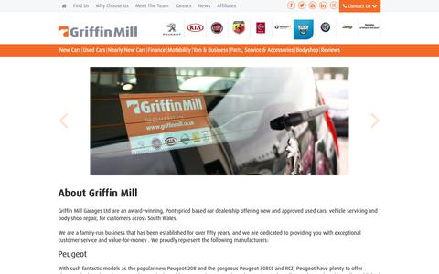 Screenshot of About Page griffinmill.co.uk - About Us | South Wales | Griffin Mill - captured Sept. 30, 2018