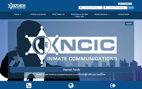 Screenshot of Home Page ncic.com - NCIC - captured July 18, 2019