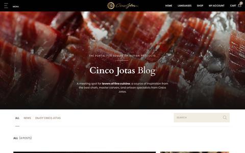 Screenshot of Blog cincojotas.com - Cinco Jotas Blog - captured Sept. 28, 2018