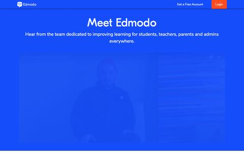 Screenshot of About Page edmodo.com - About – Edmodo - captured June 13, 2019