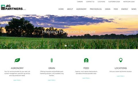 Screenshot of Home Page agpartners.com - Precision Ag Iowa | Agronomy Experts | Cash Bids - Ag Partners - captured Oct. 3, 2018