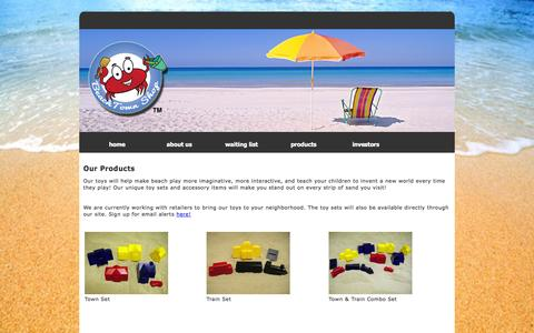 Screenshot of Products Page beachtownshop.com - Beachtown Shop - Products - captured Oct. 5, 2014