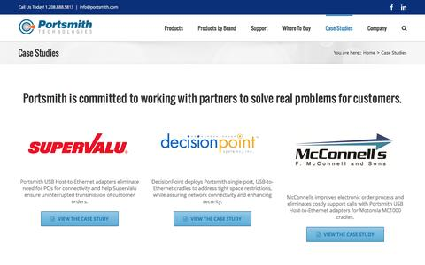 Screenshot of Case Studies Page portsmith.com - Case Studies - Portsmith Technologies - captured Jan. 30, 2016