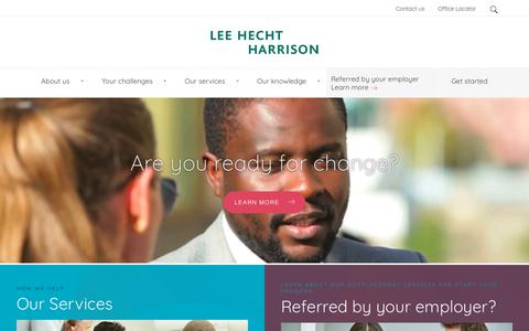 Screenshot of Home Page lhh.com - Lee Hecht Harrison Outplacement Services & HR Consulting - captured Dec. 20, 2017