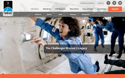 Screenshot of About Page Team Page challenger.org - Who We Are – Challenger Center - captured Nov. 3, 2016