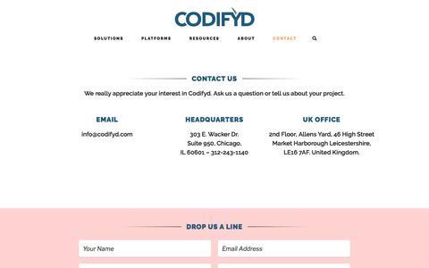 Contact – Codifyd