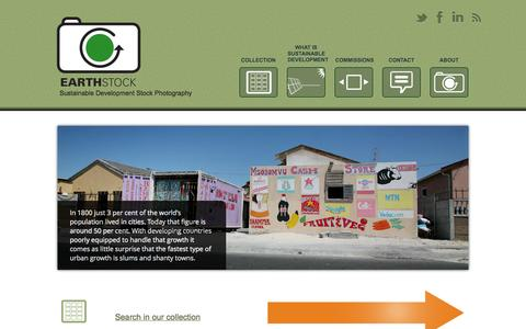 Screenshot of Home Page earthstock.co.za - EarthStock - Sustainable Development Stock Photography - captured Sept. 27, 2014