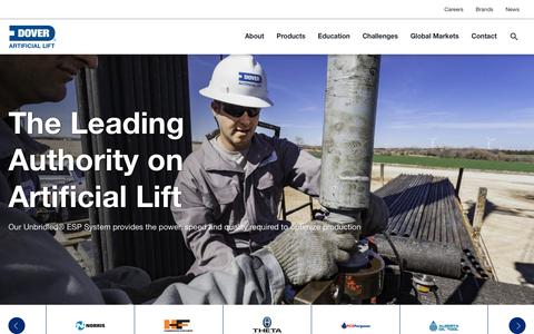 Screenshot of Home Page Privacy Page doverals.com - Artificial Lift | Dover Artificial Lift - captured Sept. 30, 2017