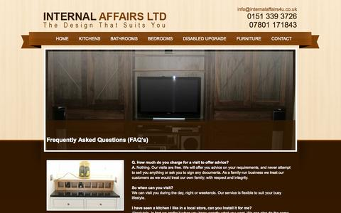 Screenshot of FAQ Page internalaffairs4u.co.uk - Internal Affairs, Frequently Asked Questions - Ellesmere Port - captured Oct. 6, 2014