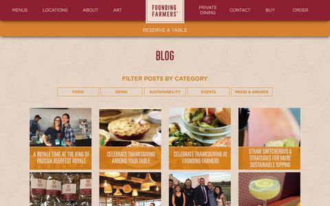 Screenshot of Blog wearefoundingfarmers.com - Blog | Founding Farmers - captured Oct. 13, 2017