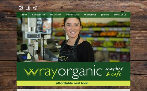 Screenshot of Contact Page wrayorganic.com.au - Wray Organic  : Contact Us - captured Jan. 28, 2016