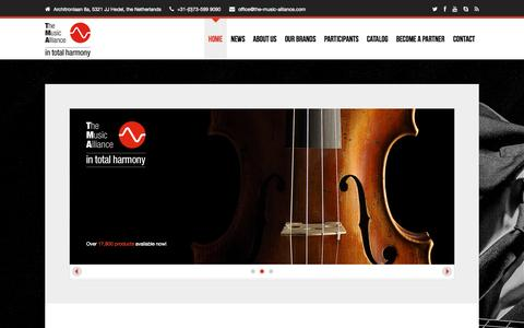 Screenshot of Home Page the-music-alliance.com - The Music Alliance - in total harmony - captured Sept. 10, 2015
