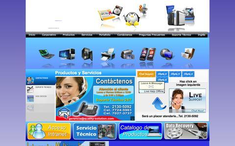Screenshot of Home Page quality-solution.com - Profesionales en Informática El Salvador - captured Oct. 8, 2014