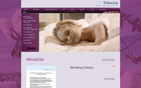 Screenshot of Press Page dibella.de - Aktuelles - captured Oct. 5, 2014