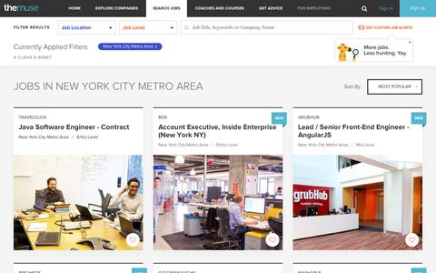Search  Jobs  in New York City Metro Area | The Muse