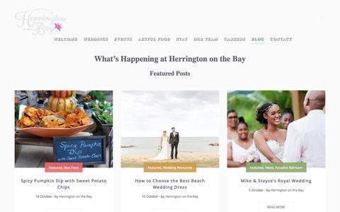 Screenshot of Press Page herringtononthebay.com - Blog | Herrington on the Bay - captured Nov. 5, 2018