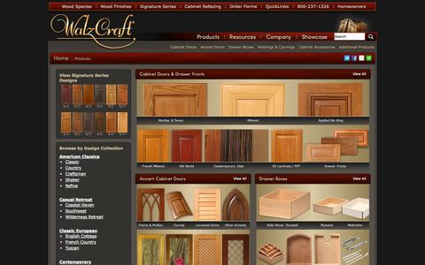 Screenshot of Products Page walzcraft.com - Custom Cabinet Doors and Cabinet Refacing Products | WalzCraft - captured Oct. 27, 2014