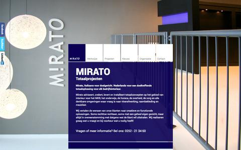 Screenshot of Home Page mirato.nl - Projectinrichter en projectstoffeerder in Sassenheim, Zuid-Holland - Mirato - captured Oct. 7, 2014