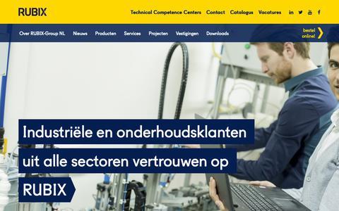Screenshot of Home Page rubix-group.nl - Maatwerk voor al onze klanten - captured Nov. 6, 2018