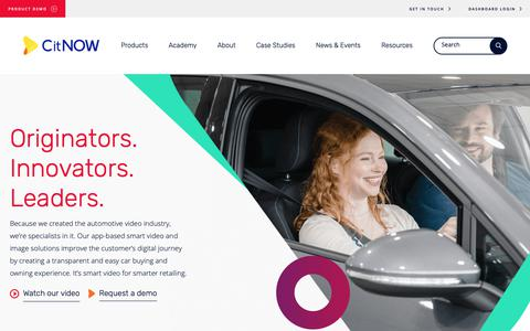 Screenshot of Home Page citnow.com - CitNOW - Smart Video Services for the Automotive Industry - captured Sept. 28, 2018