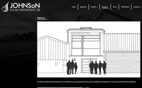 Screenshot of About Page johnsonltd.co.uk - About us - Johnson Design Partnership - captured Oct. 14, 2018