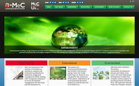 Screenshot of Home Page mecsrl.net - MeC Engineering Company specializing in Cost Engineering, Solar Gadgets, Energy and Environmental Consulting - captured Sept. 30, 2014
