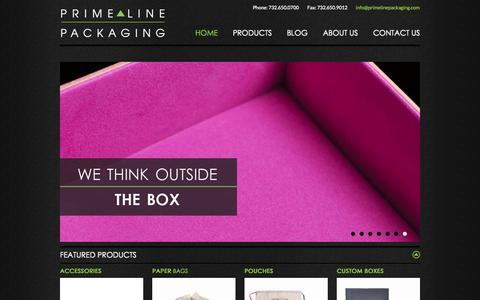 Screenshot of Home Page primelinepkg.com - Custom Shopping Bags For Business | Prime Line Packaging - captured June 18, 2015