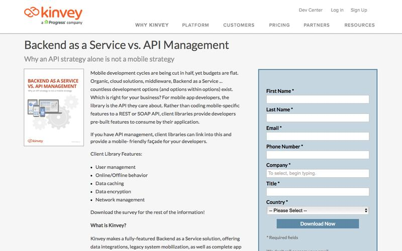 Backend as a Service vs. API Management
