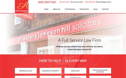 Screenshot of Terms Page attwatersjamesonhill.co.uk - Attwaters Jameson Hill Solicitors | Harlow, Loughton, Hertford, Ware - captured Oct. 4, 2014