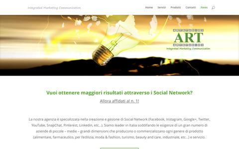 Screenshot of Press Page artstudiotre.it - agenzia gestione social network | Art Studio 3 - captured Nov. 21, 2016