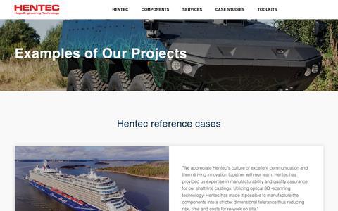 Screenshot of Case Studies Page hentec.fi - Case Studies | Hentec - captured Sept. 28, 2018