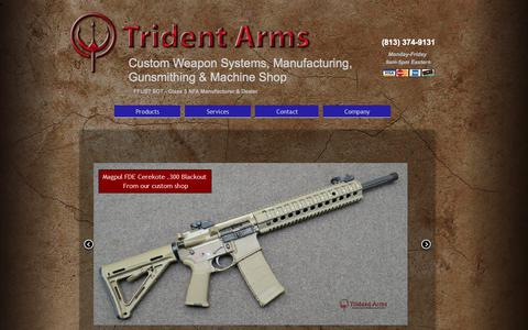 Screenshot of Home Page tridentarms.us - Trident Arms Tactical Weapons Manufacturing Products - captured Nov. 9, 2017