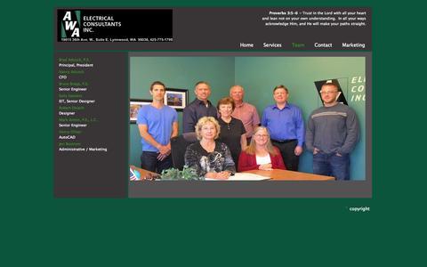 Screenshot of Team Page awaelec.com - Contact - Team AWA - captured Oct. 4, 2014