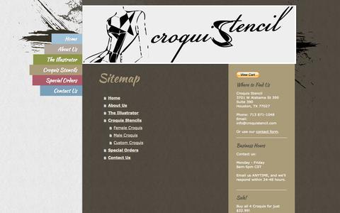 Screenshot of Site Map Page croquistencil.com - Home - Croqui Stencil - captured Sept. 30, 2014