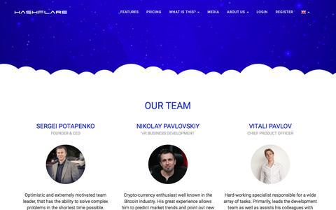 Screenshot of Team Page hashflare.io - HashFlare - Team - captured July 2, 2017
