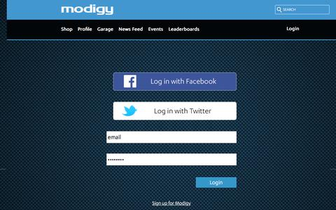 Screenshot of Login Page modigy.com - modigy - captured June 12, 2017