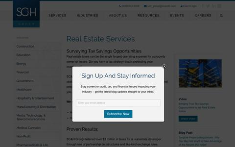 Real Estate Services | SC&H Group