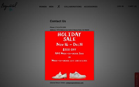 Screenshot of Contact Page esquivelshoes.com - Contact Us – Esquivel - captured Dec. 8, 2018