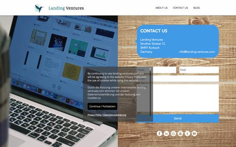 Screenshot of Contact Page Maps & Directions Page landing-ventures.com - Landing Ventures - Fast Track Your Innovation Ambitions | CONTACT US - captured June 4, 2017