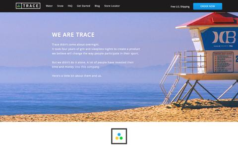 Screenshot of About Page traceup.com - About the company and team -  Trace - captured Jan. 26, 2017
